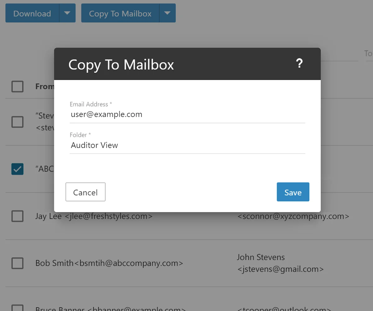 Business Class Email Features